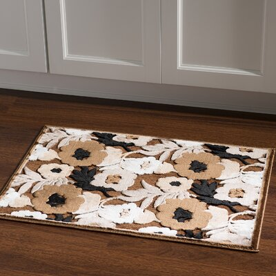 Cashion Floral Brown Area Rug Rug Size: Rectangle 2 x 3