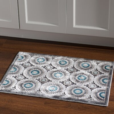 Cashion Cylinder Gray Area Rug Rug Size: Rectangle 2 x 3