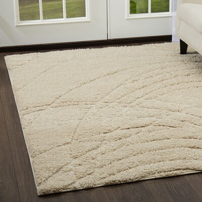 Quince Abstract Ivory Area Rug Rug Size: 52 x 72