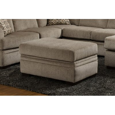 Strothers Storage Ottoman Upholstery: Cornell Pewter