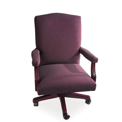 La-Z-Boy Presidential Mid-Back Office Chair with Arms - Upholstery: Cashmere - Acorn Finish: Black