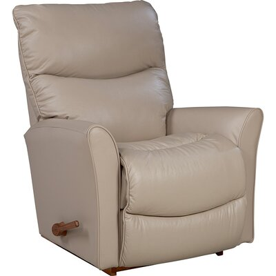Rowan Manual Rocker Recliner Upholstery: Genuine Leather Natural, Reclining Type: Manual Recline, Motion Type: Rocker