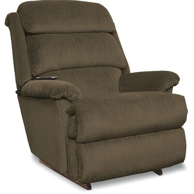Astor Recliner Upholstery: Mocha, Reclining Type: Power-Remote-Headrest & Lumbar, Motion Type: Rocker