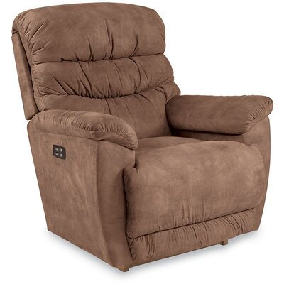 Joshua Way Power Recliner Motion Type: Rocker, Upholstery: Sable