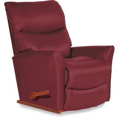 Rowan Manual Rocker Recliner Upholstery: Genuine Leather Crimson, Reclining Type: Manual Recline, Motion Type: Rocker