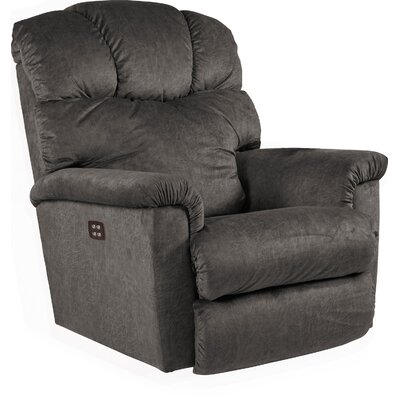 Lancer Recliner Upholstery: Black, Reclining Type: Power Recline, Motion Type: Rocker