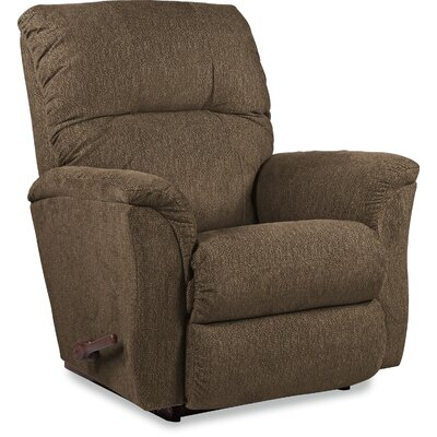Gabe Recliner Reclining Type: Power Recline- Push Button, Upholstery: Brown, Motion Type: Rocker