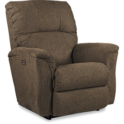 Gabe Recliner Reclining Type: Manual Recline, Upholstery: Gray, Motion Type: Wall Hugger