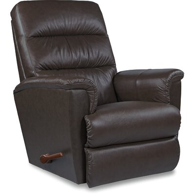 Tripoli Recliner Upholstery: Dark Brown, Reclining Type: Power-Remote-Lumbar, Motion Type: Wall Hugger