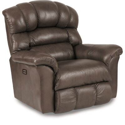 Crandell Leather Recliner Reclining Type: Power-Button, Motion Type: Rocker