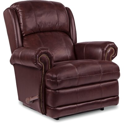 Kirkwood Leather Recliner Upholstery Color: Cabernet