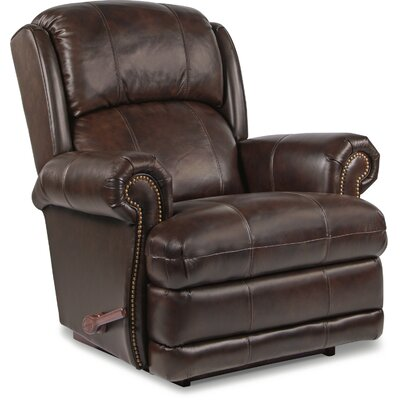 Kirkwood Leather Recliner Upholstery: Walnut, Reclining Type: Power-Button, Motion Type: Rocker