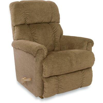 Pinnacle Reclina Rocker Recliner Upholstery: Brown Sugar, Frame Finish: Brown, Type: Manual