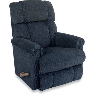 Pinnacle Reclina Rocker Recliner Upholstery: Midnight, Frame Finish: Brown, Type: Manual