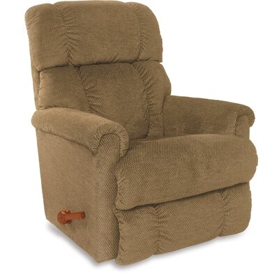 Pinnacle Manual Wall Hugger Recliner Upholstery: Brown Sugar
