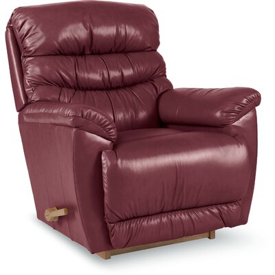 Joshua Leather Manual Rocker Recliner Upholstery: Burgundy