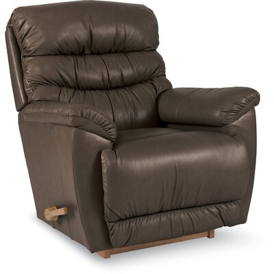 Joshua Leather Recliner Upholstery: Chocolate