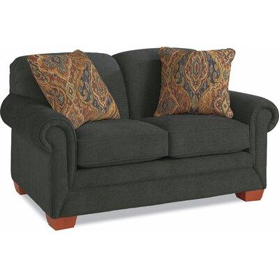 MacKenzie Premier Loveseat Upholstery: Azure