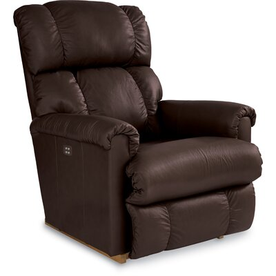 Pinnacle Leather Recliner Upholstery: Espresso