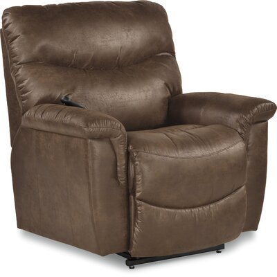 James Recliner Upholstery: Mahogany, Reclining Type: Power-Remote-Headrest & Lumbar, Motion Type: Rocker