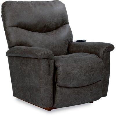 James Recliner Reclining Type: Power Recline, Upholstery: Steel Gray