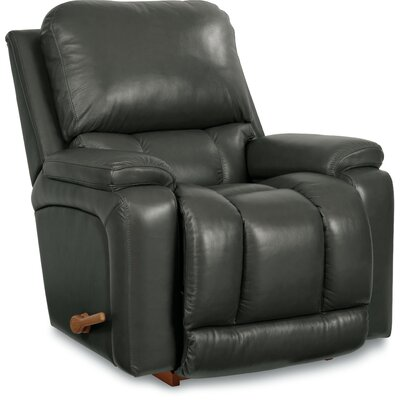 Greyson Leather Rocker Recliner Upholstery: Charcoal
