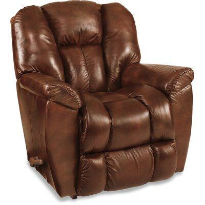 Maverick Leather Recliner Upholstery: Claret, Reclining Type: Manual, Motion Type: Rocker