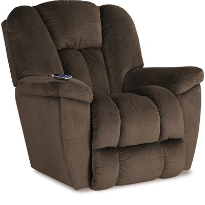Maverick XR Reclina-Rocker� Recliner Upholstery: Cocoa, Reclining Type: Power Recline, Motion Type: Wall Hugger
