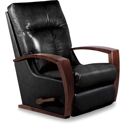 Maxx Leather Recliner Upholstery: Black