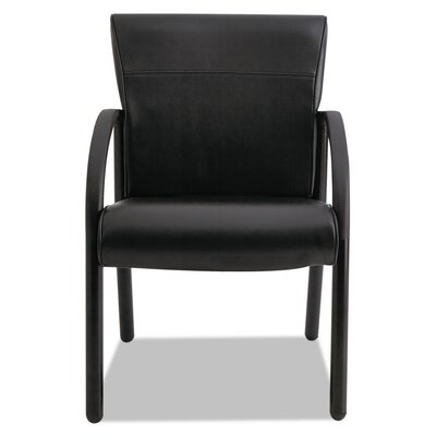 Contract Gratzi Reception Series Guest Chair with Arms Seat Color: Black