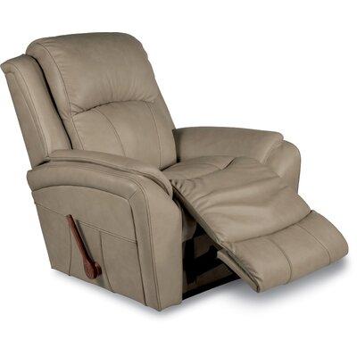 Barrett Leather Recliner Upholstery: Khaki