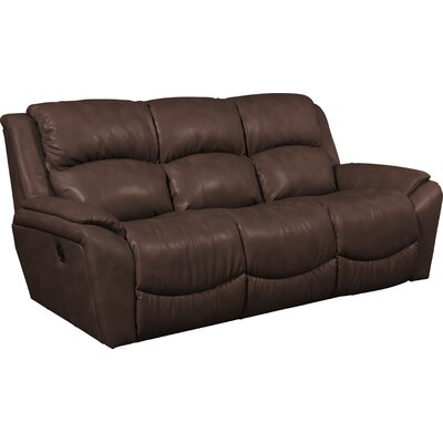 Barrett Leather Reclining Sofa Upholstery: Cocoa