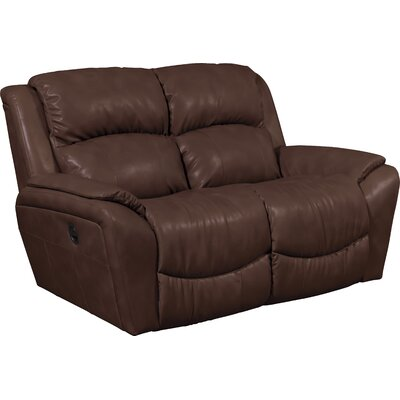 Barrett Leather Reclining Loveseat Upholstery: Cocoa