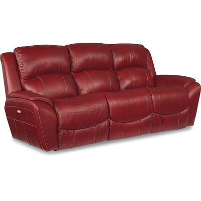 Barrett Leather Reclining Sofa Upholstery: Fire