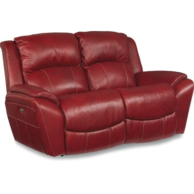 Barrett Leather Reclining Loveseat Upholstery: Fire