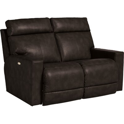 Jax Reclining Loveseat Type: Power, Upholstery: Brown