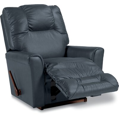 Easton Leather Rocker Recliner Upholstery: Navy, Reclining Type: Manual