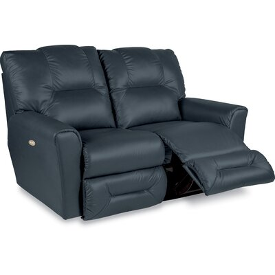 Easton Leather Reclining Loveseat Type: Power