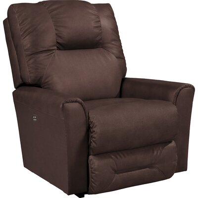 Easton Power-Recline Reclina-Rocker Leather Recliner