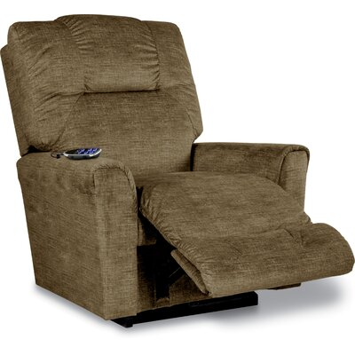 Easton Reclina Rocker Recliner Upholstery: Brown, Reclining Type: Power Recline