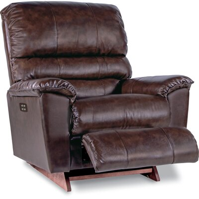 Vince Reclina Rocker Recliner Upholstery: Brown, Reclining Type: Power Recline