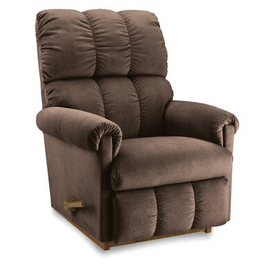 Vail Manual Recliner Upholstery: Indigo, Base Finish: Brown, Motion Type: Rocker