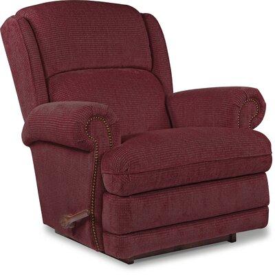 Kirkwood Reclina-Rocker Recliner Upholstery: Cherry