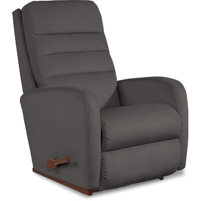 Forum Recliner Upholstery: Grey, Reclining Type: Manual, Motion Type: Rocker