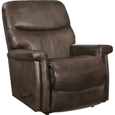 Baylor Reclina-Rocker Leather Recliner Upholstery: Mushroom