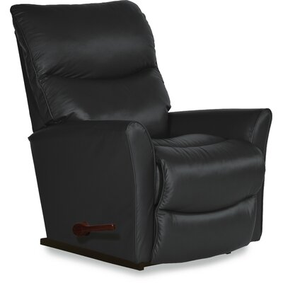 Rowan Manual Rocker Recliner Upholstery: Genuine Leather Carbon, Reclining Type: Manual Recline, Motion Type: Rocker