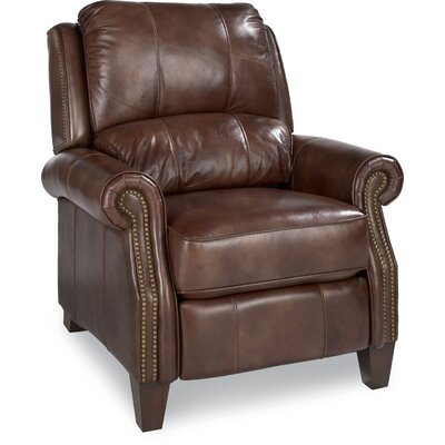 Tarleton High Leg Leather Recliner Upholstery: Chestnut