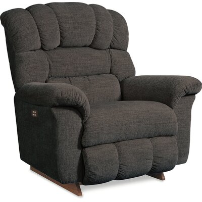 Crandell Recliner Upholstery: Flannel, Reclining Type: Power, Motion Type: Wall Hugger