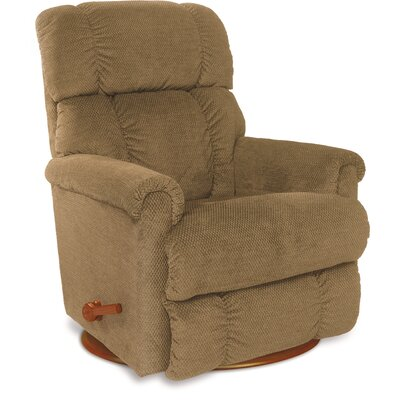 Pinnacle�Recliner Upholstery: Upside Down Navy, Reclining Type: Manual, Motion Type: Wall Hugger