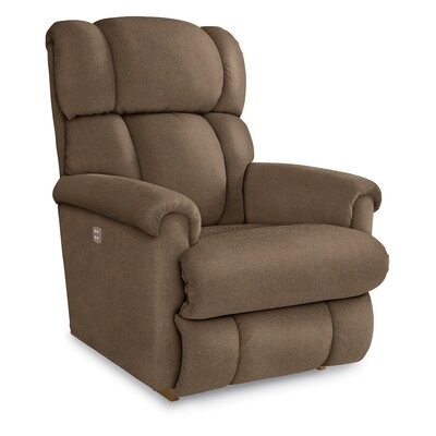 Pinnacle�Recliner Upholstery: Coffee, Reclining Type: Power, Motion Type: Wall Hugger